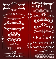 Calligraphic design elements for decoration vector