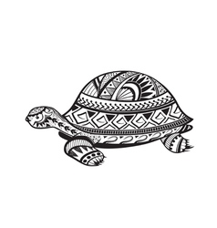 Ethnic ornamented tortoise vector