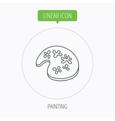 Painting icon artistic tool sign vector