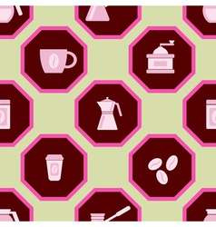 Seamless background with coffee vector