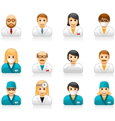 Medical staff avatars - user icons of doctors vector image