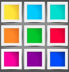 Set of colored square banners vector
