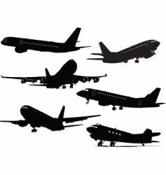 six planes vector image