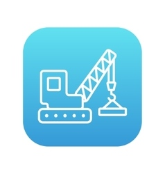 Lifting crane line icon vector