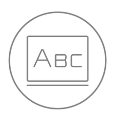 Letters abc on blackboard line icon vector