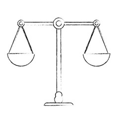 balance justice equality image sketch vector image