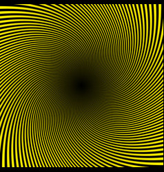 black yellow twist abstract background vector image vector image