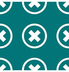 Cancel web icon flat design seamless pattern vector