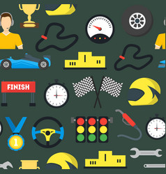 cartoon car racing background pattern vector image vector image