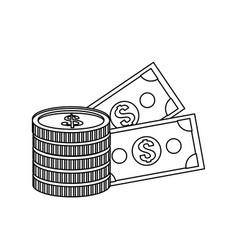 cash money icon image vector image
