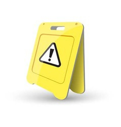 caution sign Showing Warning vector image vector image