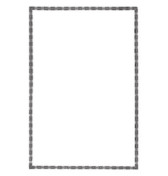 Celtic border is a narrow border with celtic vector