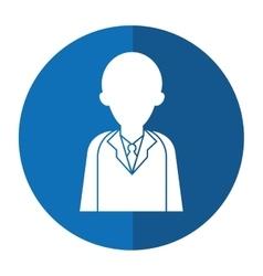 Character doctor uniform health shadow vector