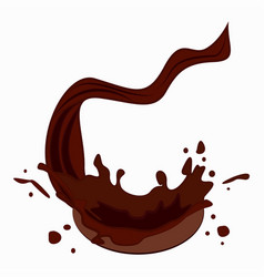 chocolate drops vector image