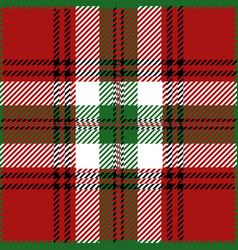 Christmas tartan plaid pattern vector