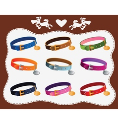 collars for dogs vector image vector image