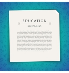 Colorful Education Background with Copy Space vector image