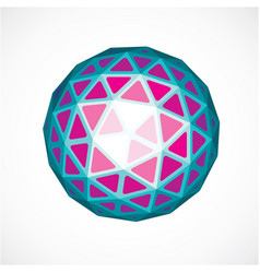 Dimensional purple low poly object trigonometry vector
