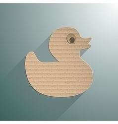 Duck flat icon vector image vector image