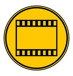 Film strip button vector image vector image