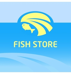 Fish store vector image vector image