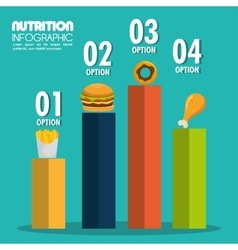 Food infographic icons vector