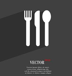 fork knife spoon icon symbol Flat modern web vector image