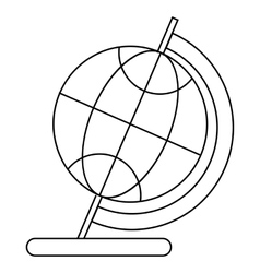 Globe icon in outline style vector image vector image