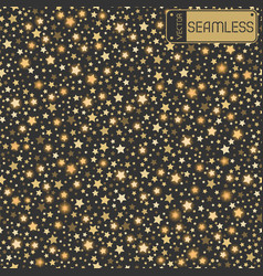golden abstract shining falling stars seamless vector image vector image
