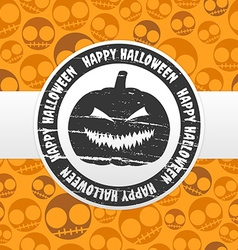 Halloween label vector image
