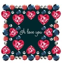 I love you decorative frame vector image