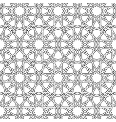 Islamic girih pattern background vector