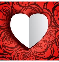 Love heart card vector