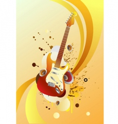magic guitar vector image vector image