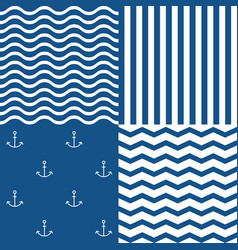 Marine seamless pattern set 2 vector