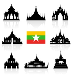 Myanmar icon vector