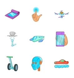 New feature icons set cartoon style vector