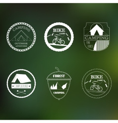 Outdoor activity elements vector