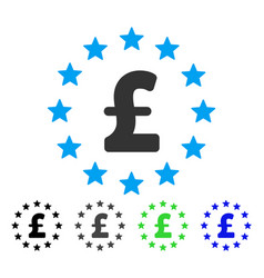 Pound stars flat icon vector