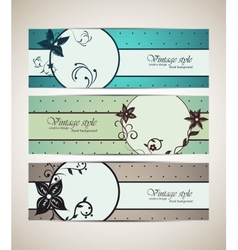 Set of vintage banners vector image