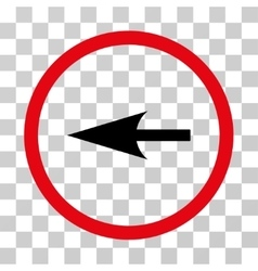 Sharp left arrow rounded icon vector