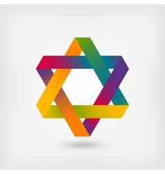 Six-pointed star symbol vector