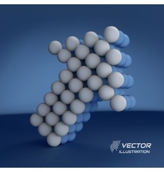 Spheres forming an arrow Business concept vector image vector image