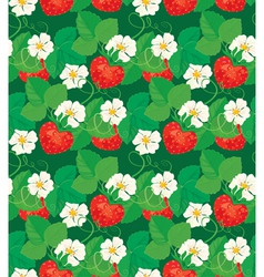 strawberry seamless 1 380 vector image vector image