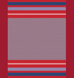 striped knitting background vector image vector image