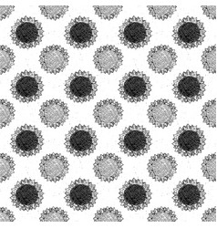 Sunflower seamless pattern hand drawn sketch vector