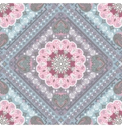 Turkish rug style seamless pattern vector