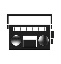 Vintage stereo radio music image vector