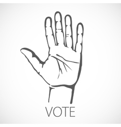 voting vote finger india hand concept indian vector image