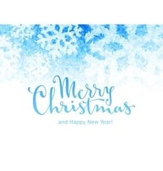 Merry christmas and happy new year lettering on vector